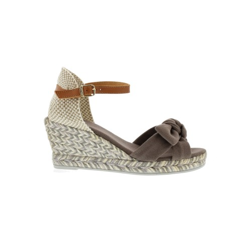 Toni Pons Sandaal Dames sandalen Carina-LO taupe canvas - Bremmer Waddinxveen